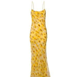 RARE Brian Dales Yellow Organza Dress